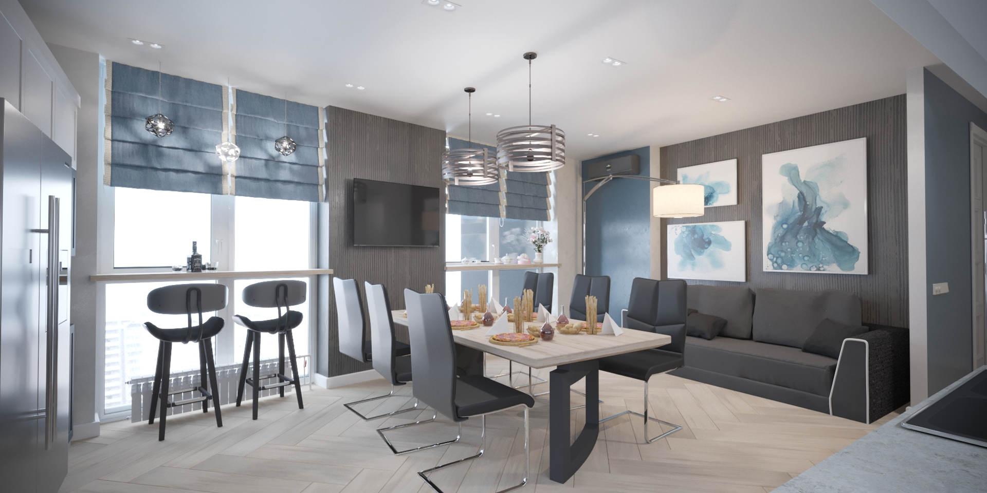 Дизайн интерьера кухни в стиле лофт фото