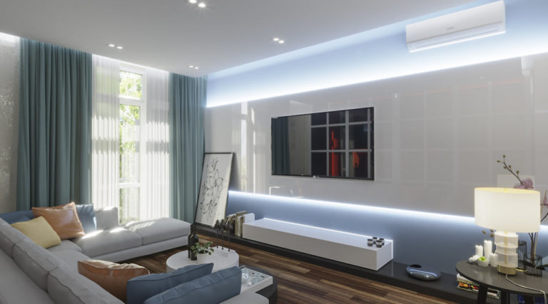 Дизайн гостиной в ЖК Комфорт Таун