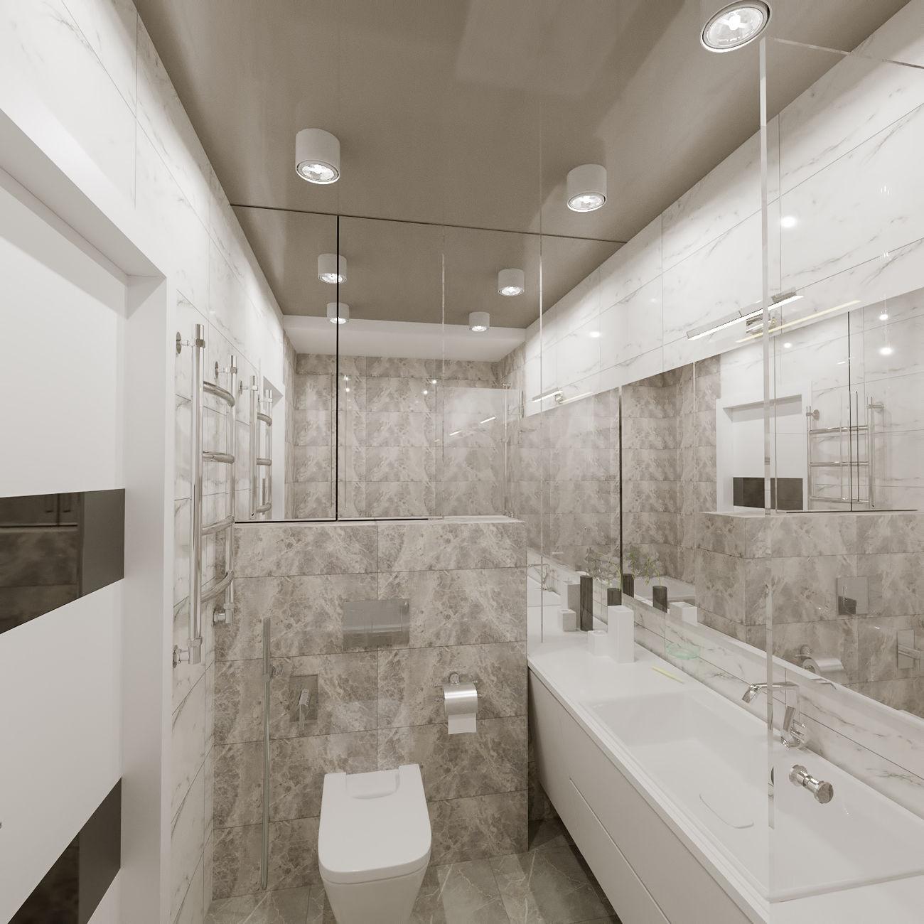 Дизайн ванной в ЖК Комфорт Таун