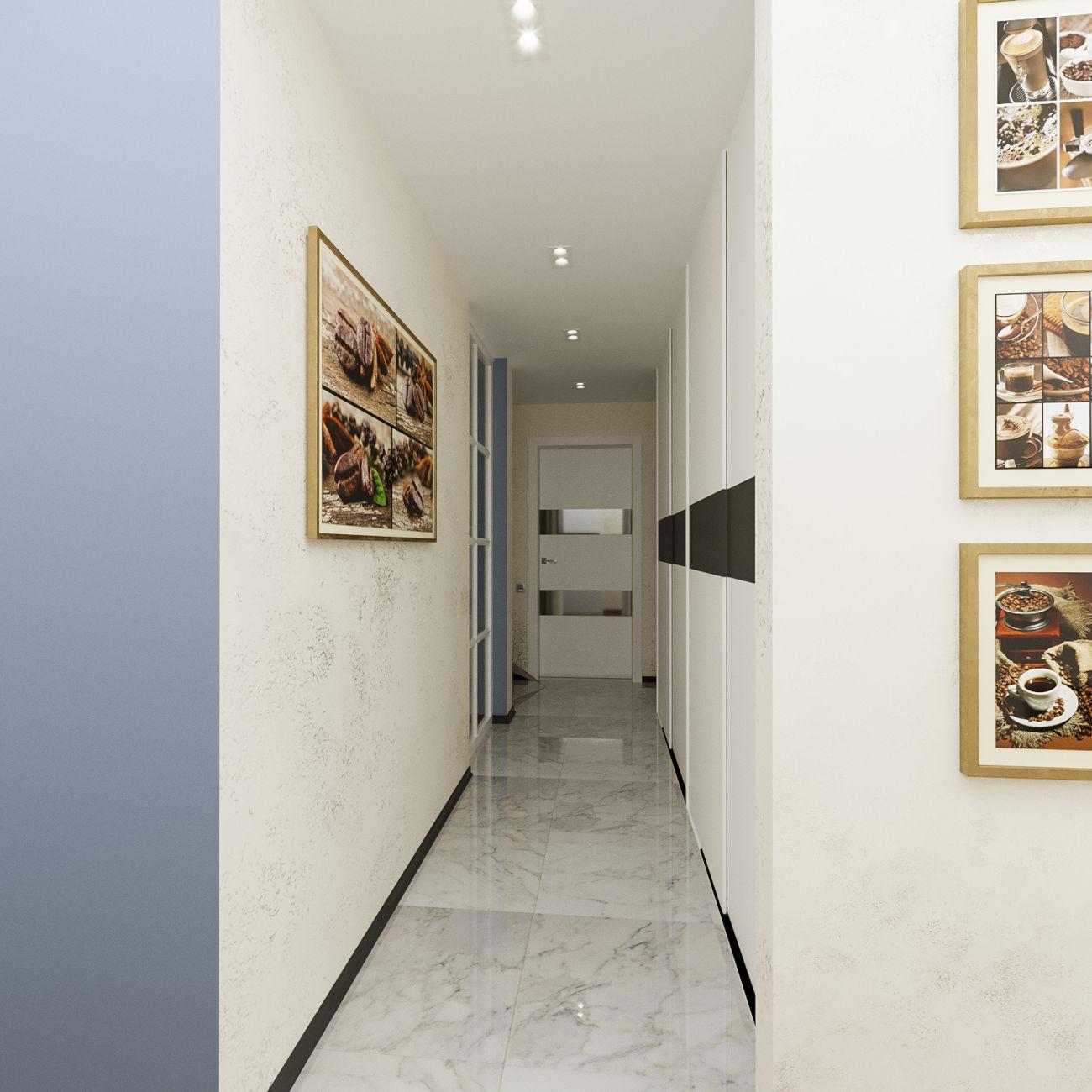 Дизайн коридора в ЖК Комфорт Таун