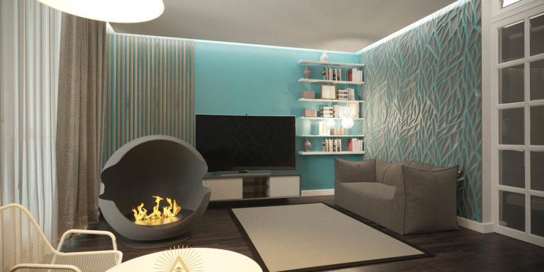 дизайн красивой гостевой комнаты в ЖК Автограф