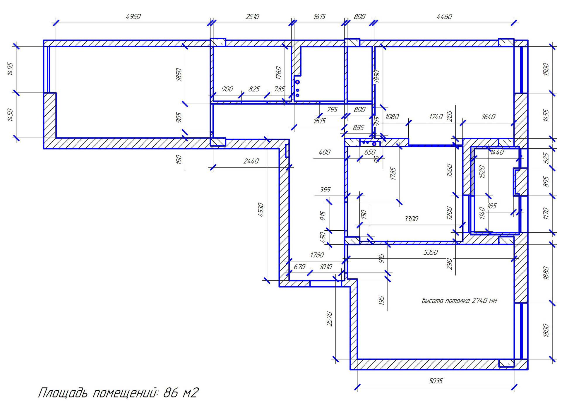дизайн интерьера квартиры Киев Комфорт Таун обмерный план квартиры, план замеры, чертеж