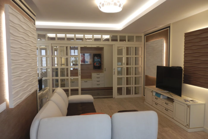 Дизайн гостиной в ЖК chelsea tower