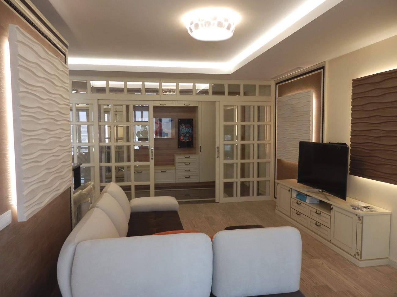симпатичная гостиная в ЖК chelsea tower