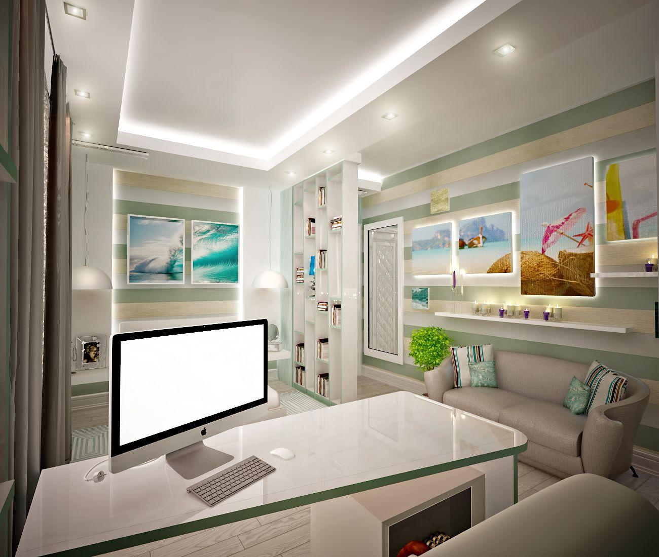 дизайн детской комнаты в бирюзовых тонах