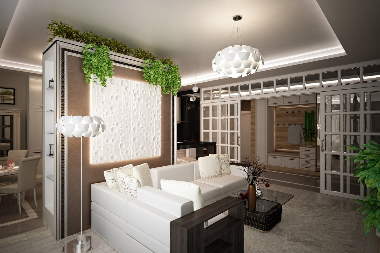 красивая гостиная в ЖК chelsea tower