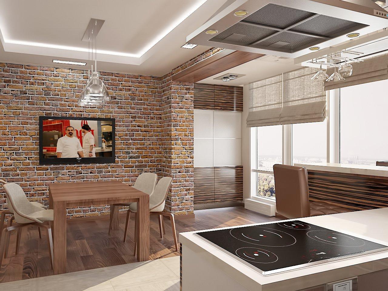 кухня с фасадами из 3д панелей