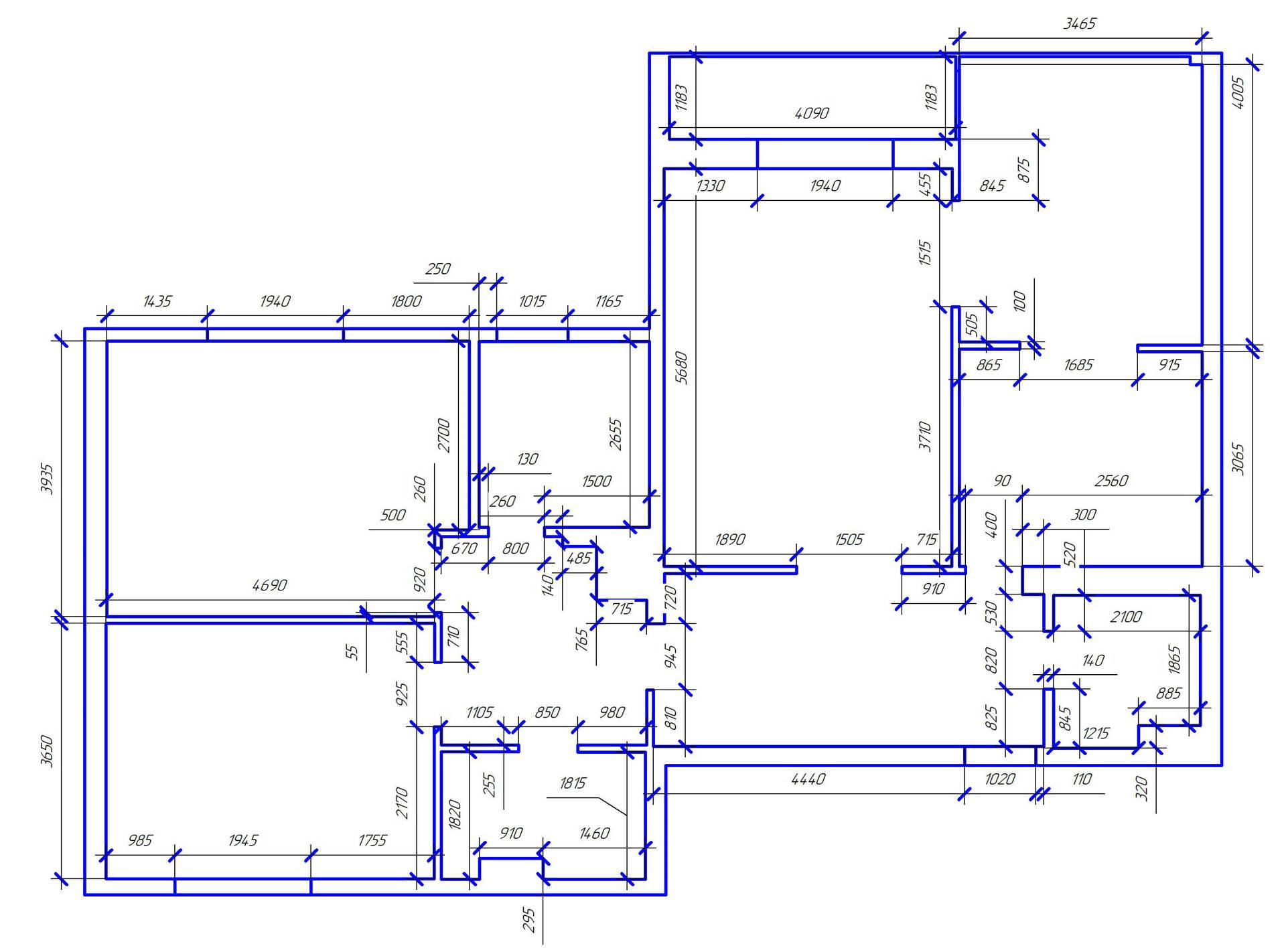 дизайн интерьера квартиры Киев ЖК Челси Тауер обмерный план, план квартиры