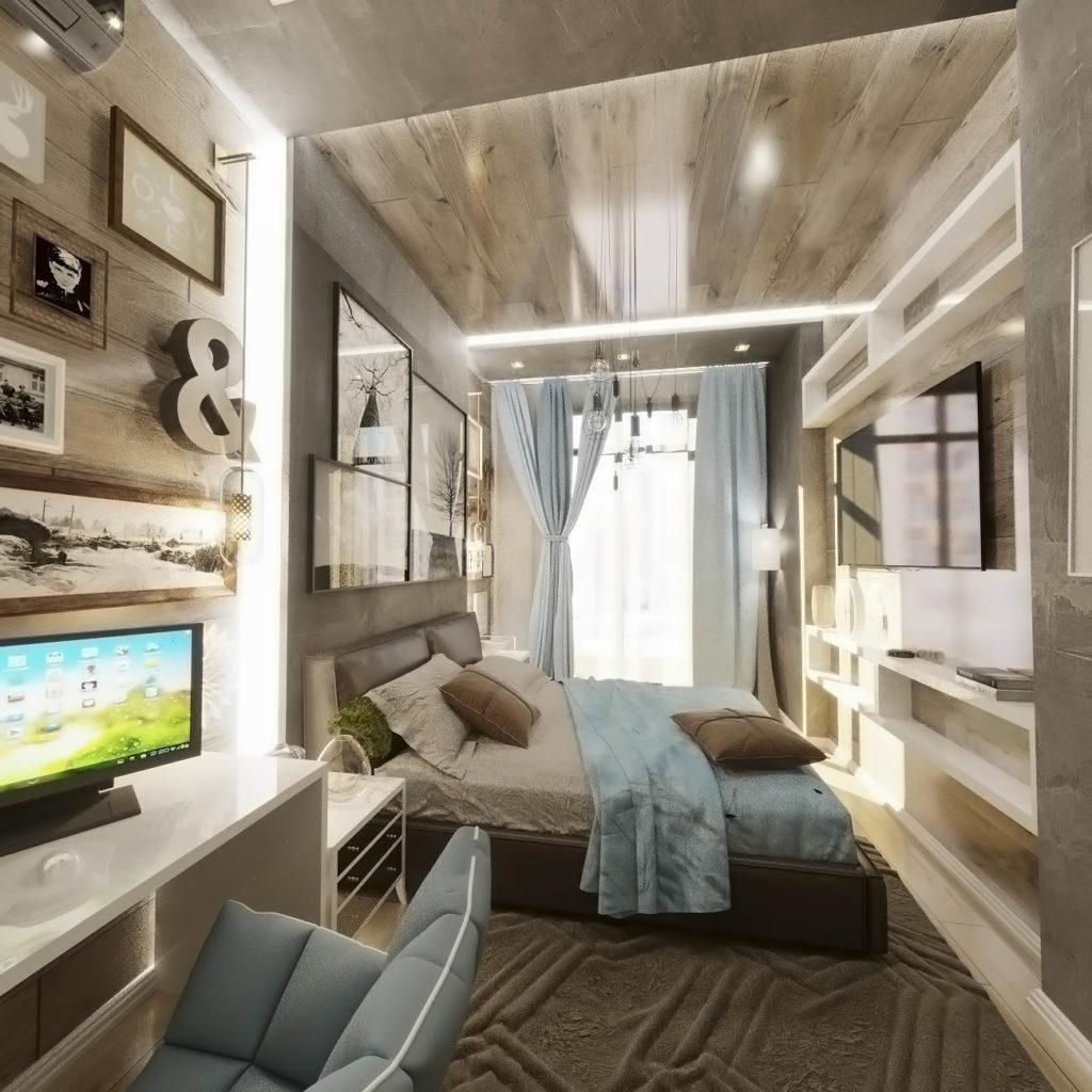 дизайн спальни в ЖК Кристал Парк