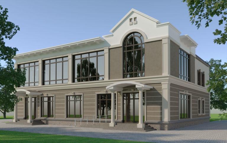 дизайн фасада дома в Кагарлике