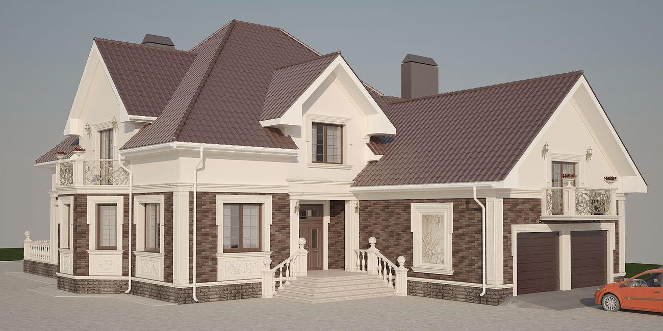дизайн фасада дома в скандинавском стиле