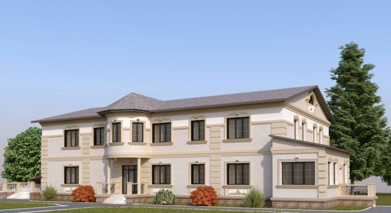 дизайн фасада в современной классике в Пуще Водице