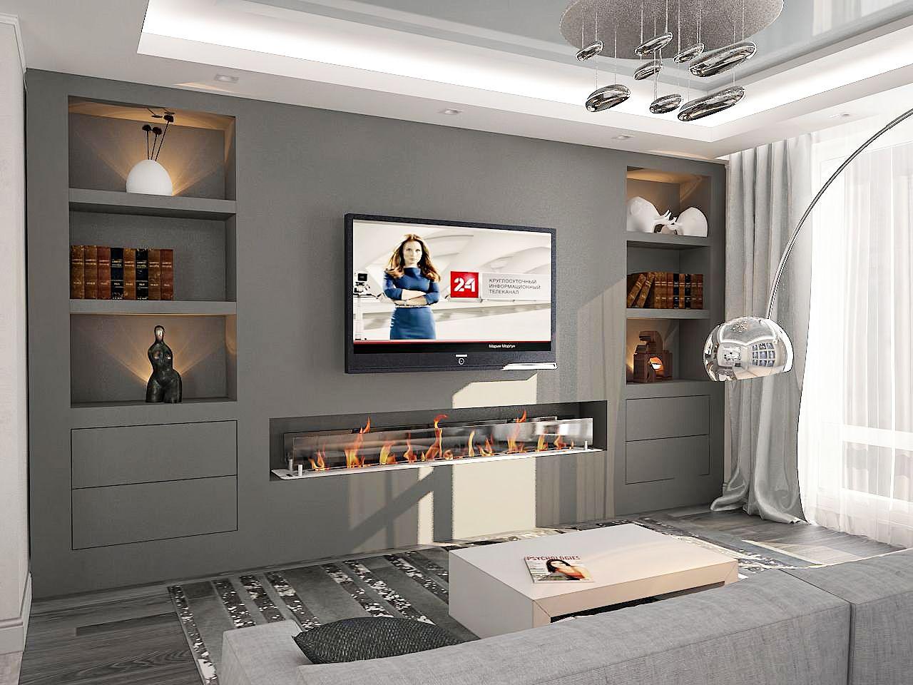 дизайн гостиной в ЖК Липинка