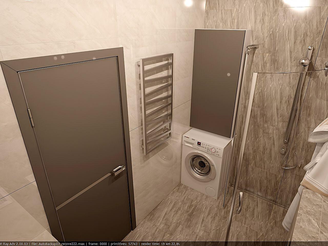 дизайн ванной в стиле хай тек в ЖК Малахит