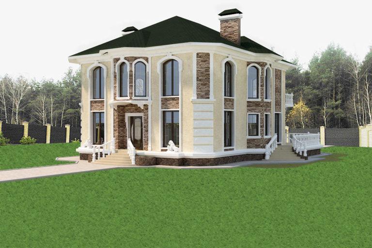 Дизайн дома в классическом стиле в Бобрице
