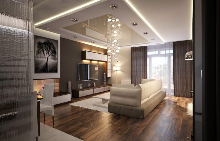 дизайн интерьера дома в контрастном и современном стиле