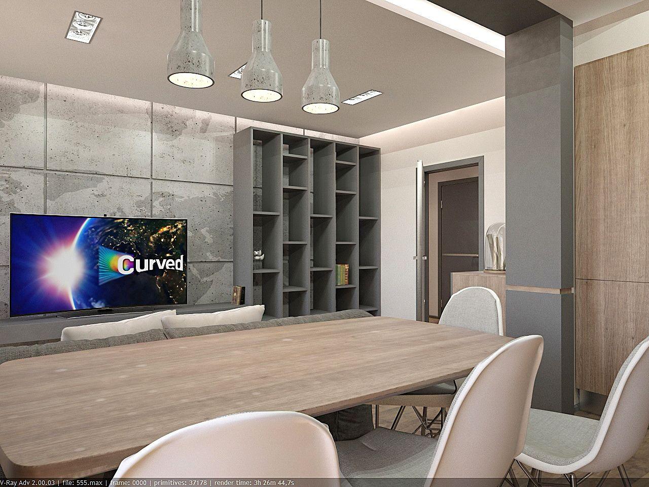 дизайн гостиной в стиле хай тек в ЖК Малахит