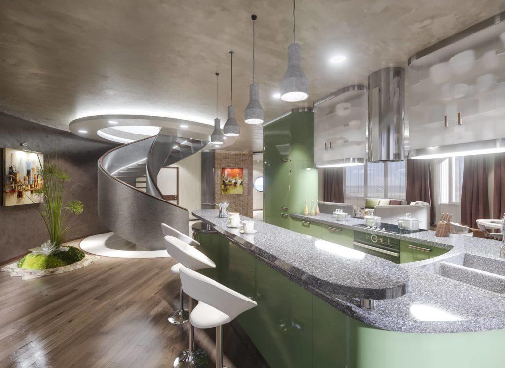 дизайн интерьера круглого дома