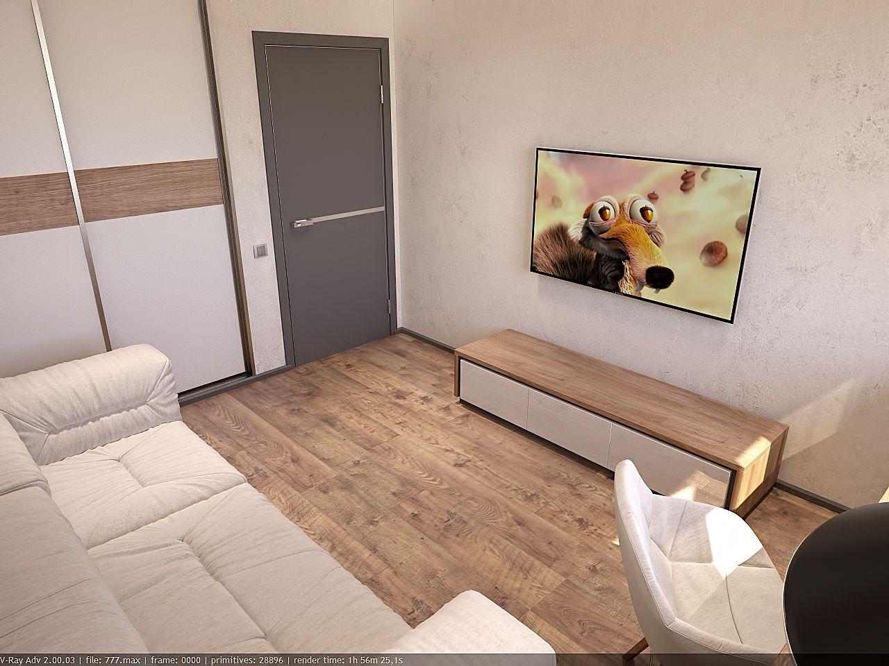 дизайн кабинета в стиле хай тек в ЖК Малахит