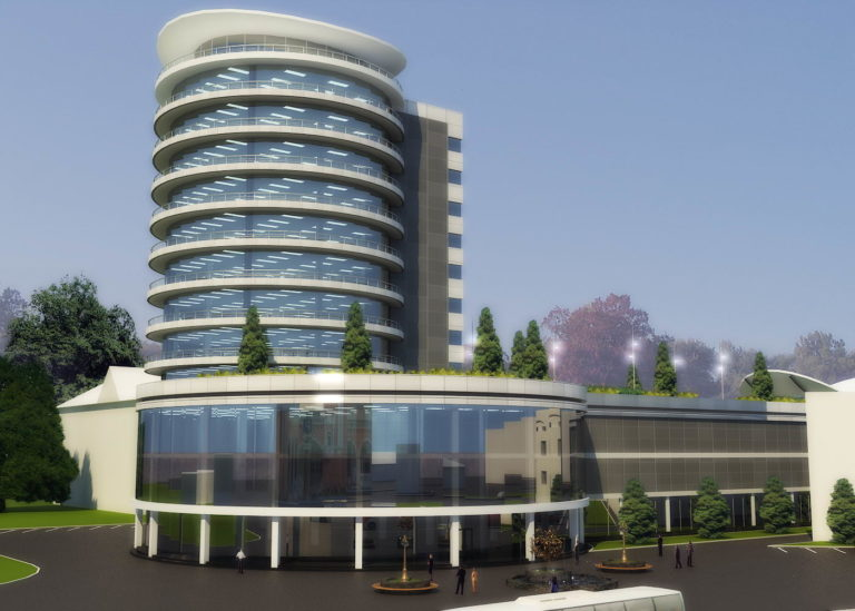 дизайн фасада гостиницы в современном стиле