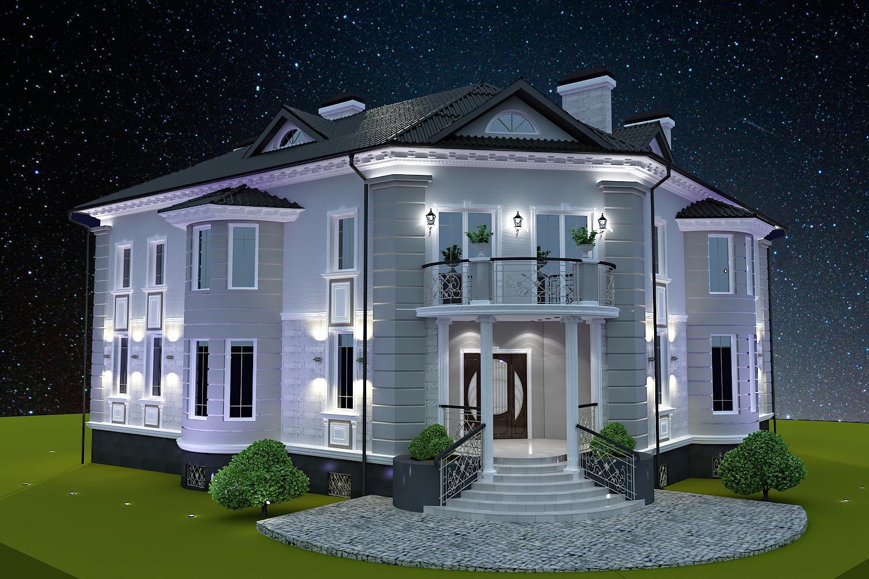 дизайн роскошного дома в классическом стиле