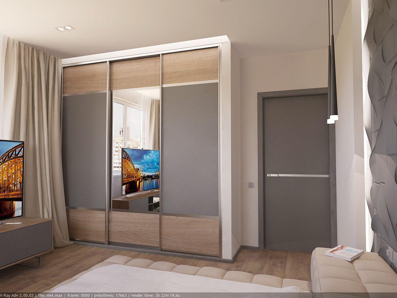 дизайн спальной в стиле хай тек в ЖК Малахит