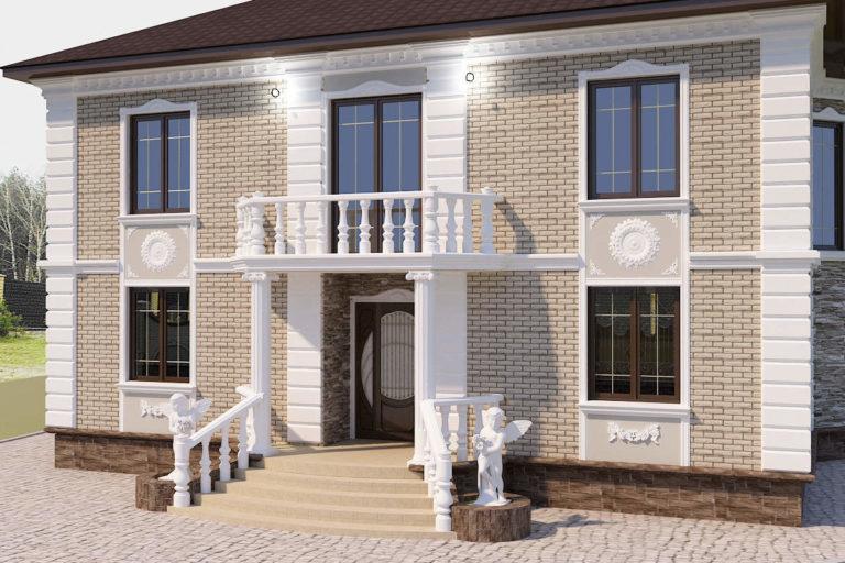 Дизайн дома в легкой классике в Бобрице
