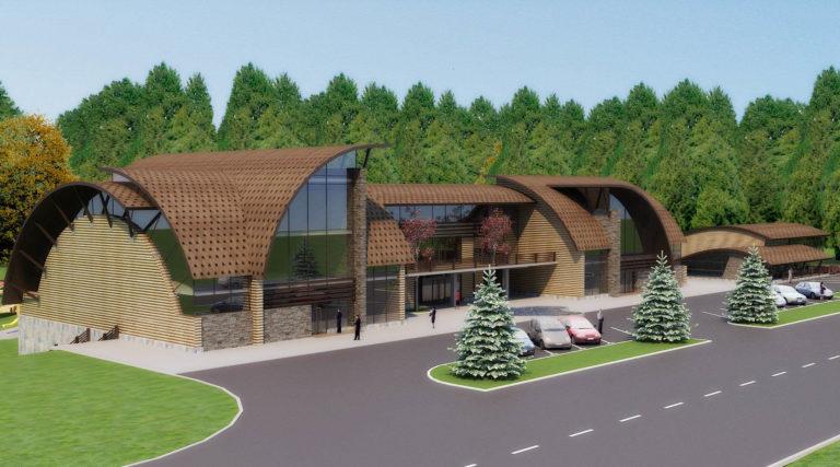 дизайн фасада отеля