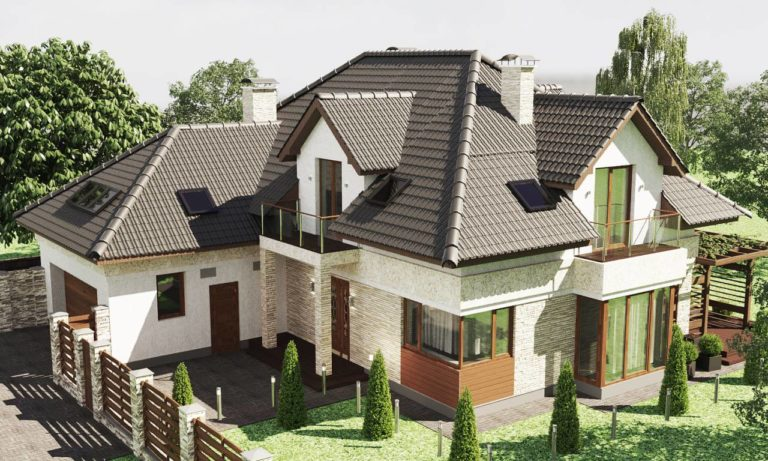 дизайн фасада в скандинавском стиле