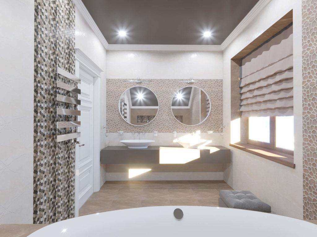 дизайн ванной комнаты с мозаикой
