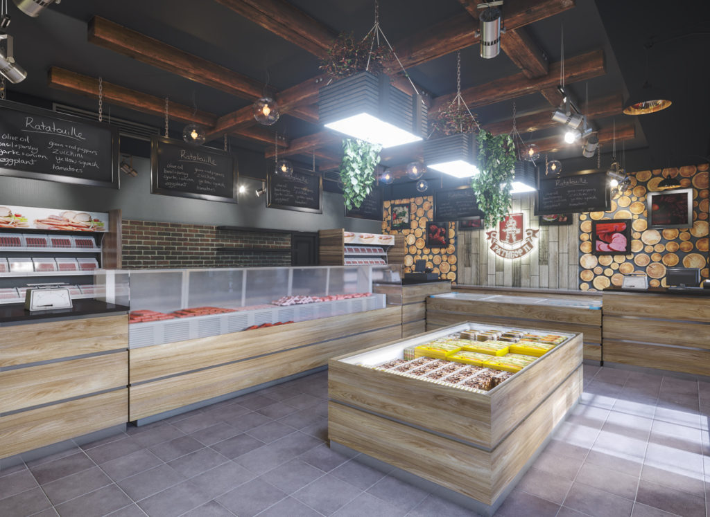 дизайн магазина по продаже мяса