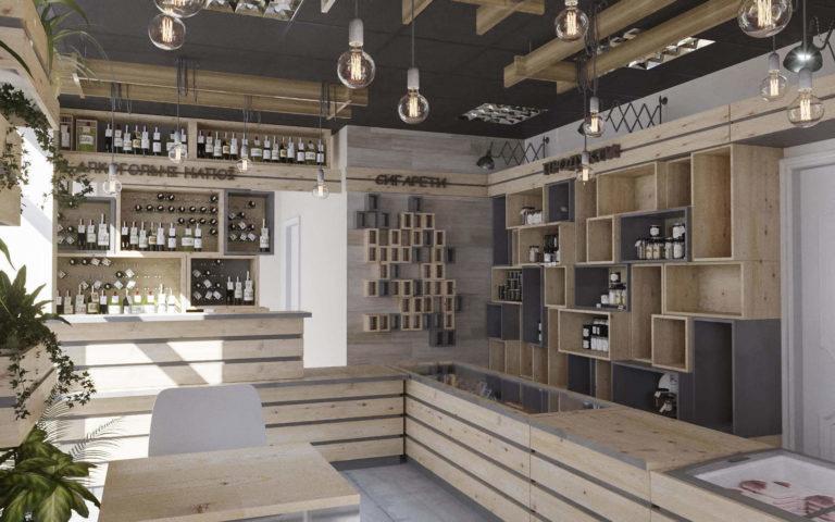 дизайн магазина алкогольных напитков