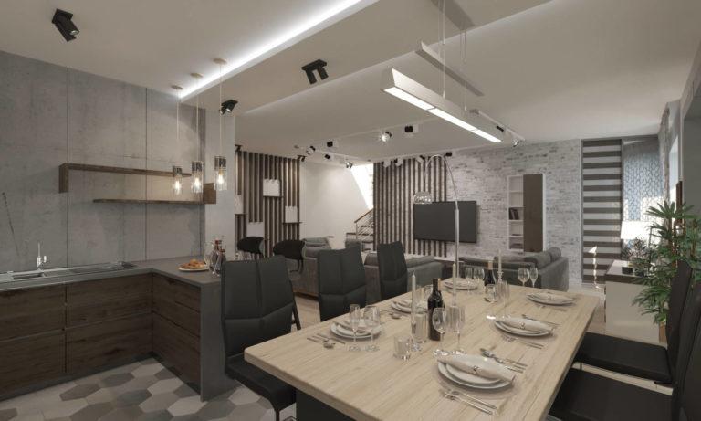 дизайн интерьера дизайн гостиной в стиле хай тек