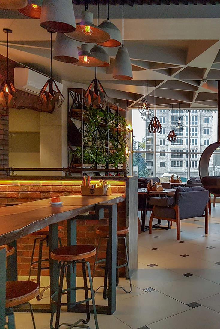 Дизайн интерьера кафе в скандинавском стиле лофт 2
