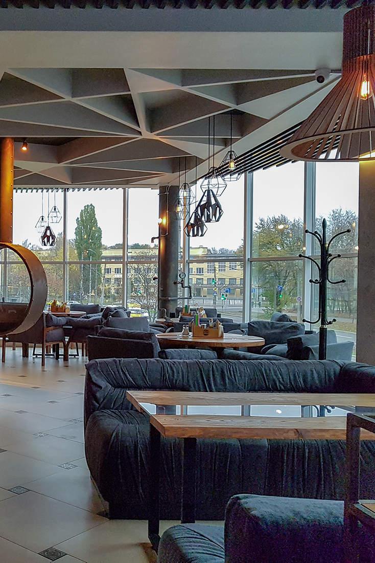 Дизайн интерьера кафе в скандинавском стиле лофт