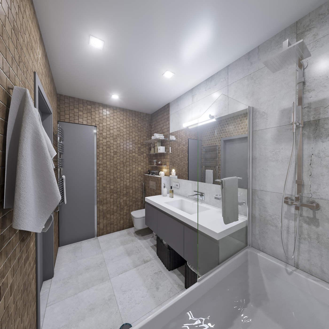 дизайн ванной в ЖК Малахит