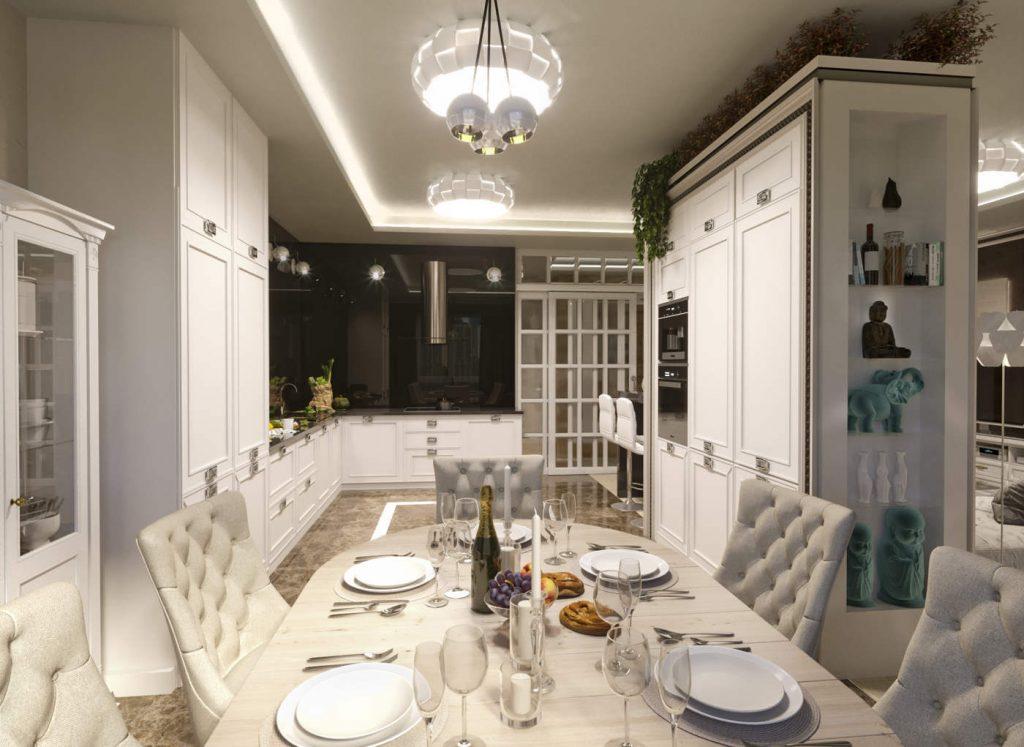 дизайн современной гостиной в ЖК Челси Тауер