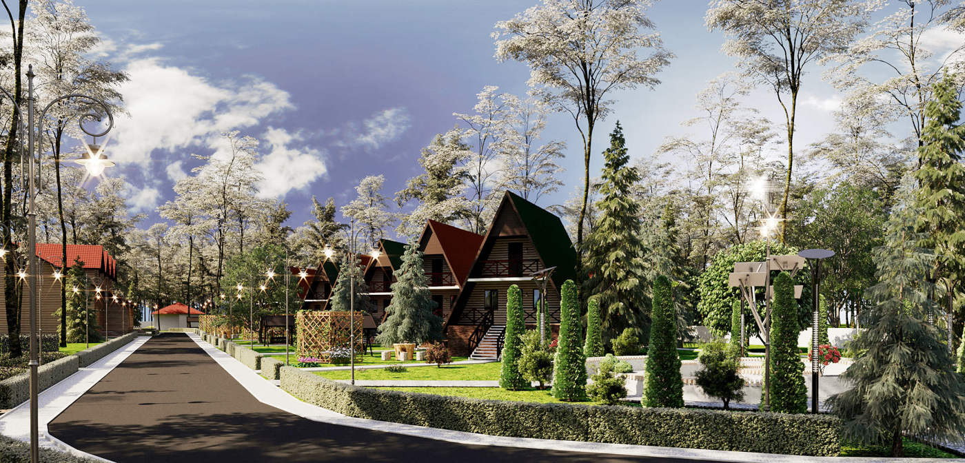 эскизный проект поселка в Салтыковой девице