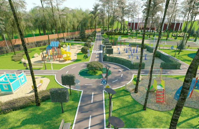 ландшафтный дизайн современного парка