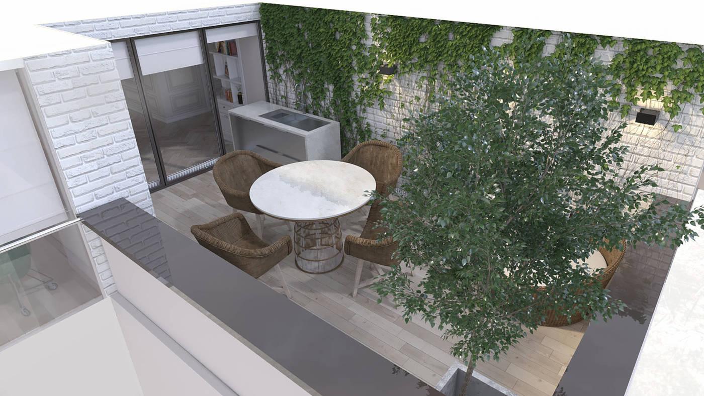 дизайн тересы гостиной