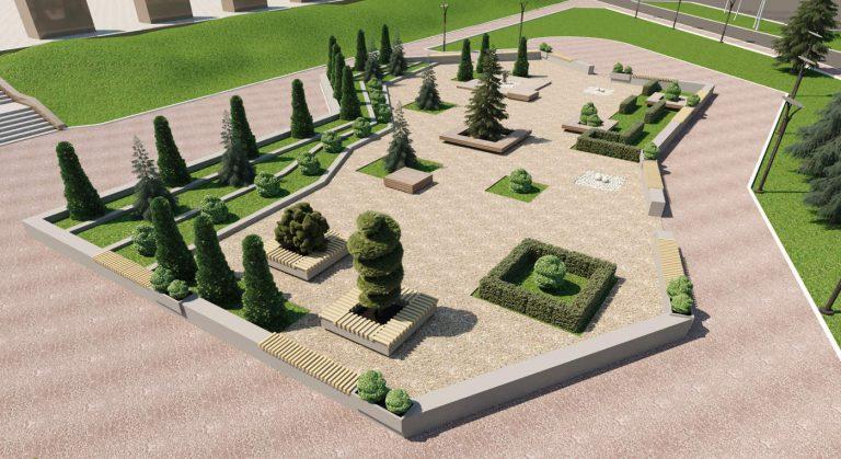 ландшафтный дизайн парка на Болдиной горе