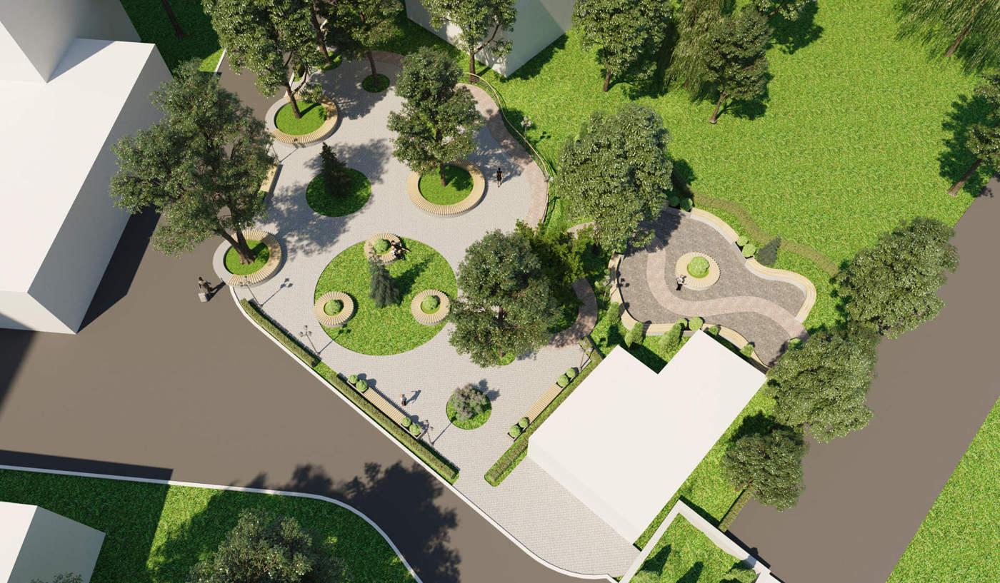дизайн парка сквера ландшафтный дизайн проект парка