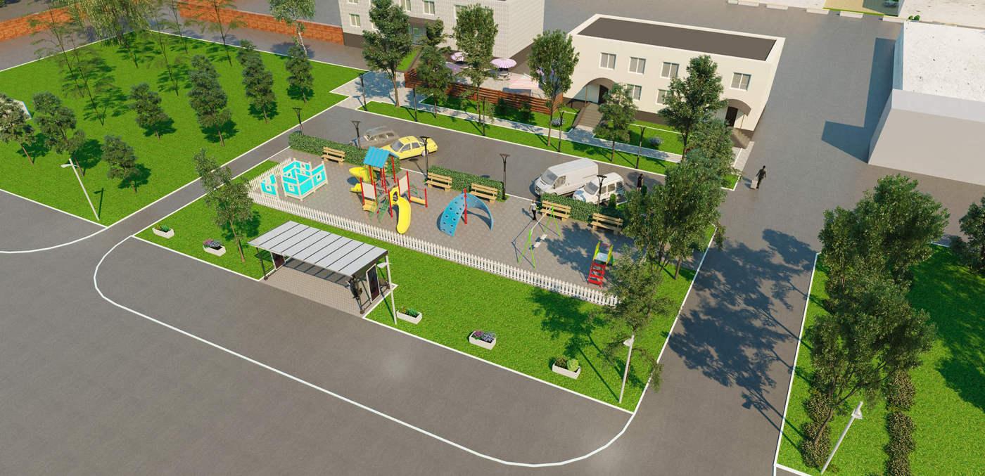 ландшафтный дизайн парковой зоны