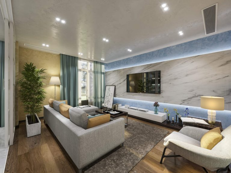 дизайн гостиной в комфорт тауне 6