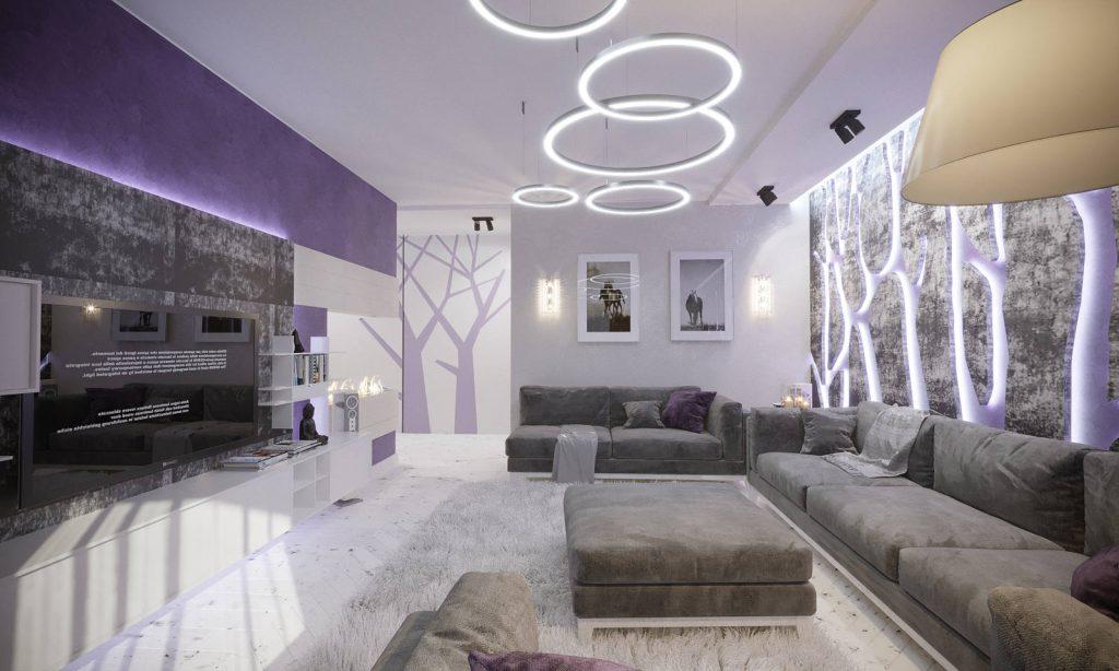 дизайн гостиной в этно стиле 5