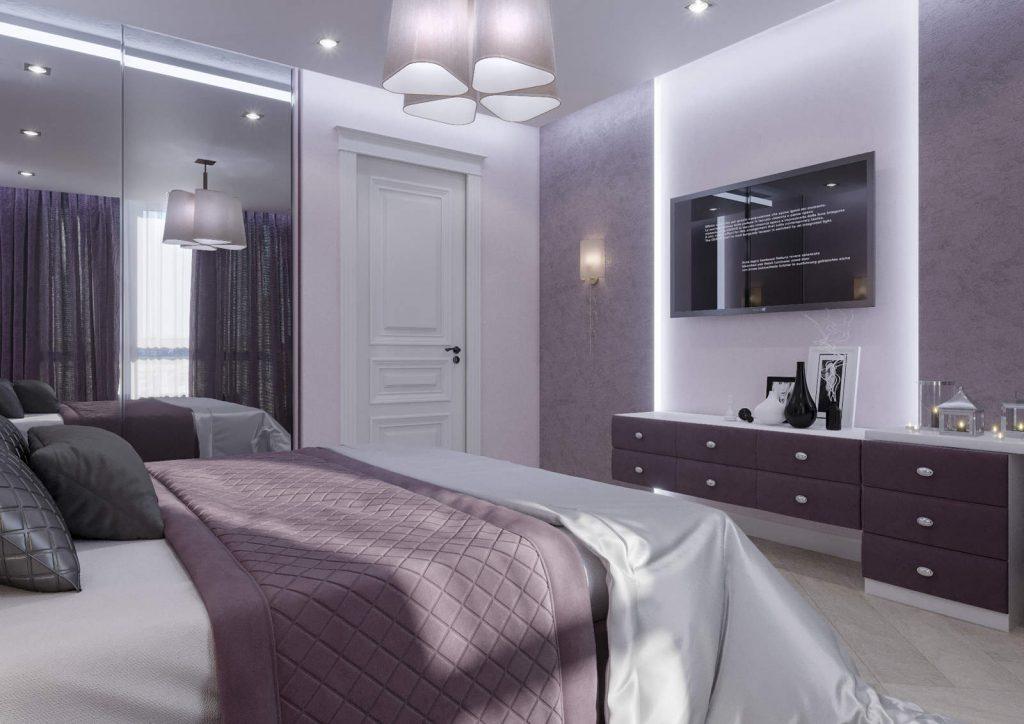 дизайн спальни 3 в ЖК Автограф