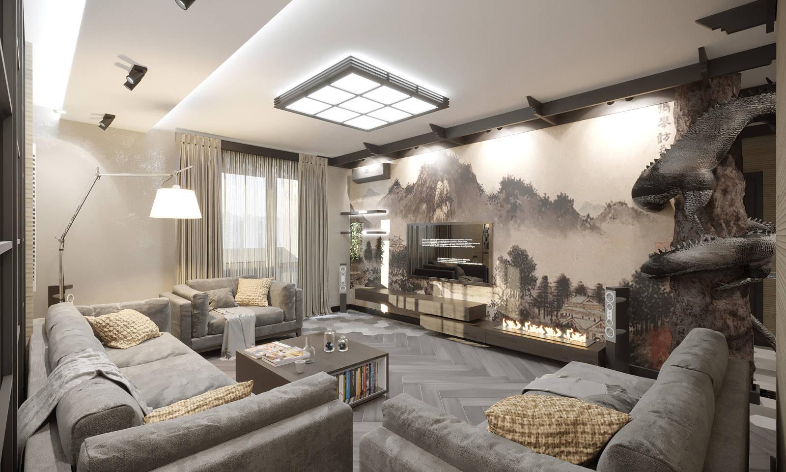 Дизайн гостинной модерн Киев, Японский и Китайский стиль в интерьере