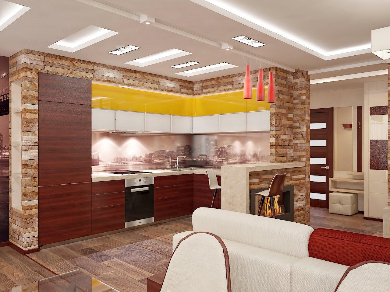 Дизайн кухни в частном доме фото Киев.