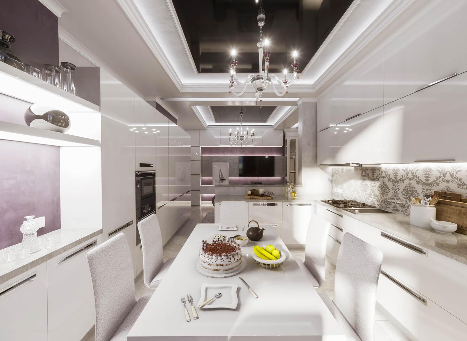 Дизайн кухни в квартире Киев центр, старый город современная класика, винтаж