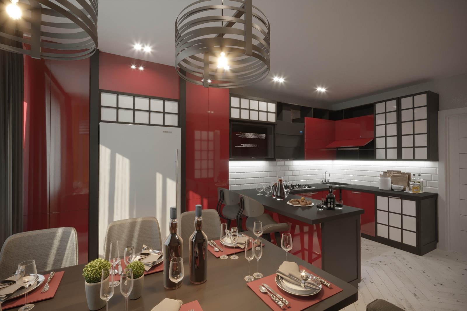 Дизайн кухни 2020 в китайском стиле